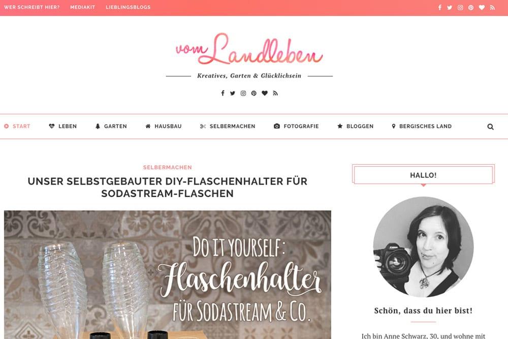 Screenshot – vom-landleben.de bis Februar 2018