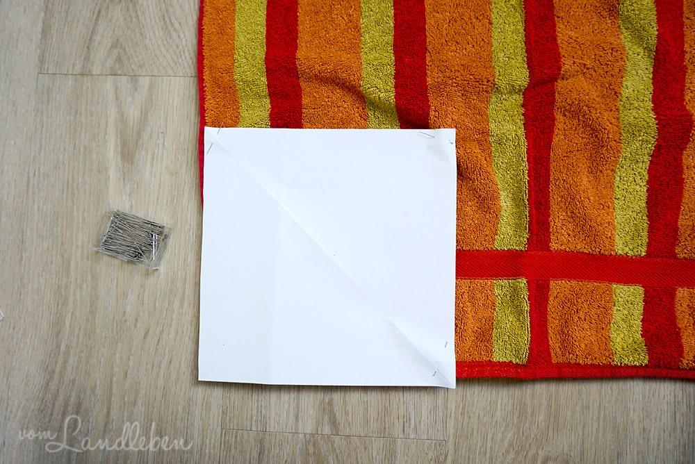 Selbstgenähtes Spültuch aus altem Handtuch