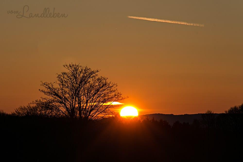 Ein Sonnenaufgang Vom Landleben