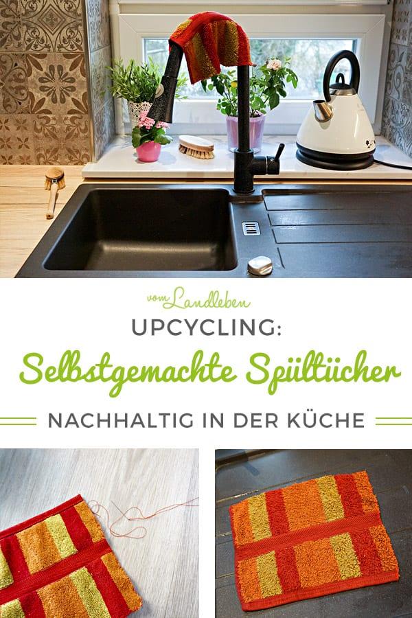 Upcycling: selbstgemachte Spültücher #Nachhaltigkeit