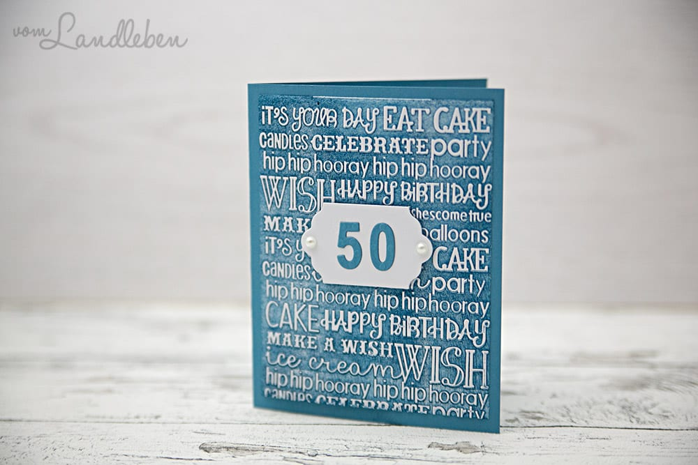 DIY-Geburtstagskarte 50. Geburtstag