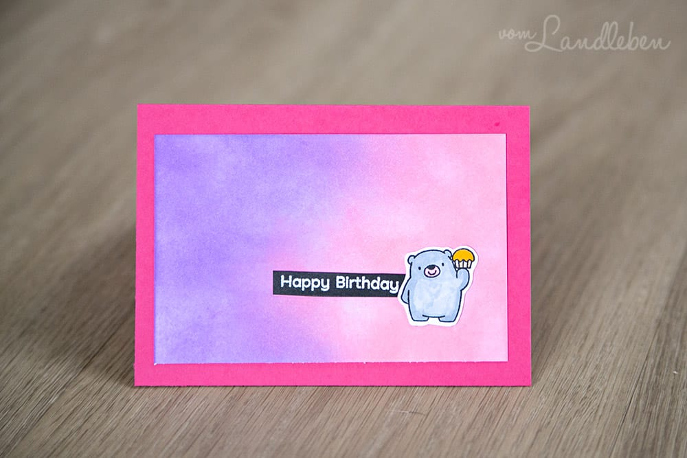 Happy Birthday - selbstgebastelte Geburtstagskarte