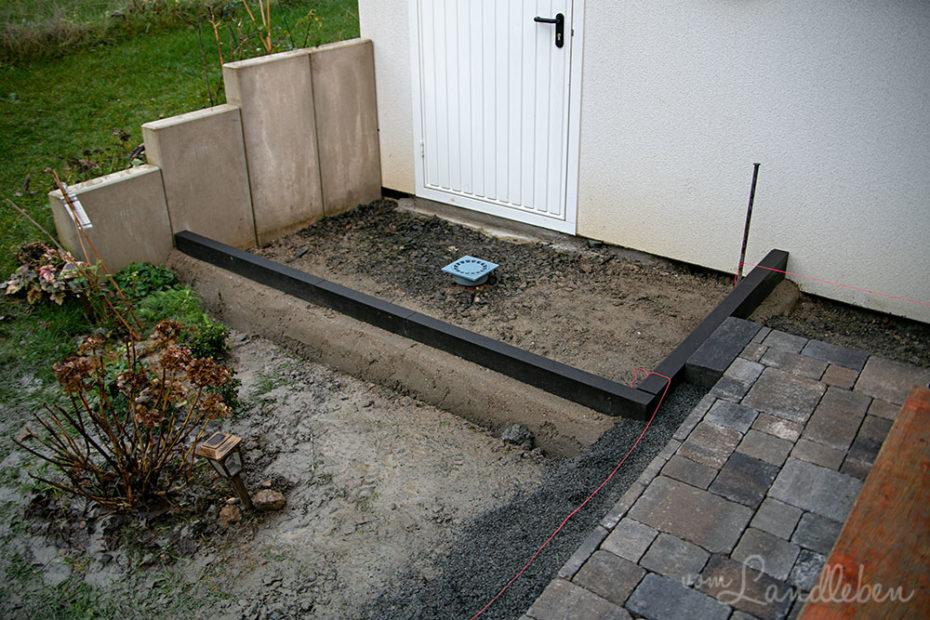 Weg an der Haustür pflastern
