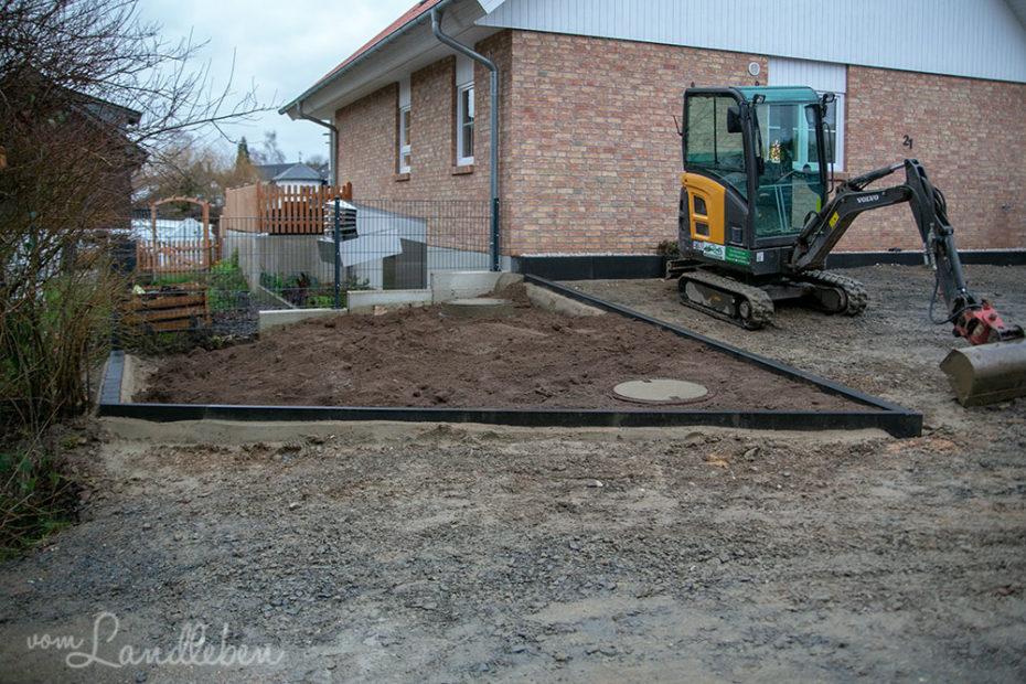 Pflastern: der Vorgarten entsteht