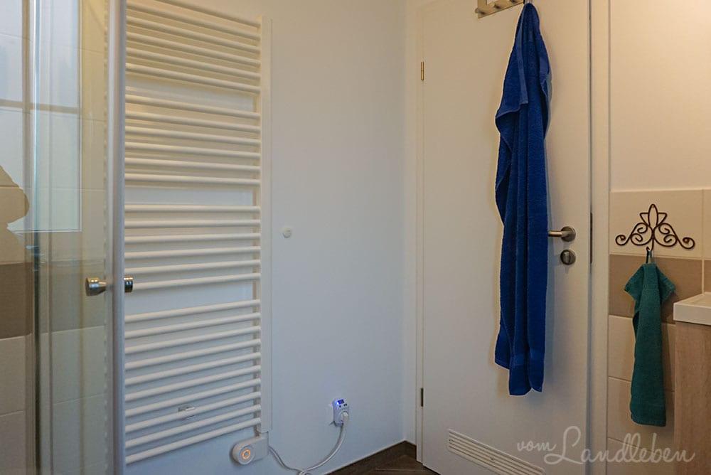 Wandheizung im Gäste-WC