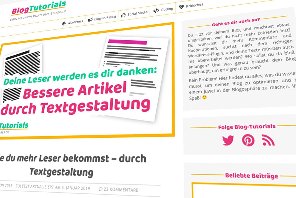 Launch von Blog-Tutorials