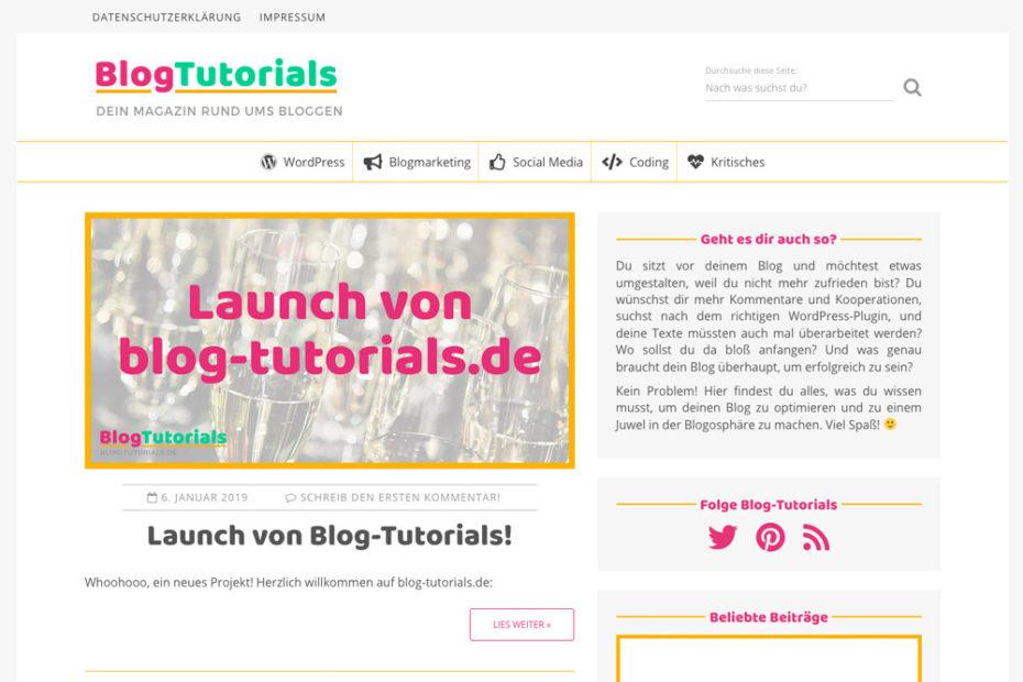 Launch von Blog-Tutorials