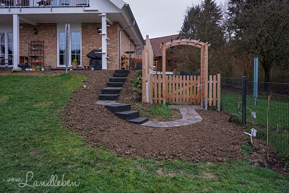 Bau der Gartentreppe