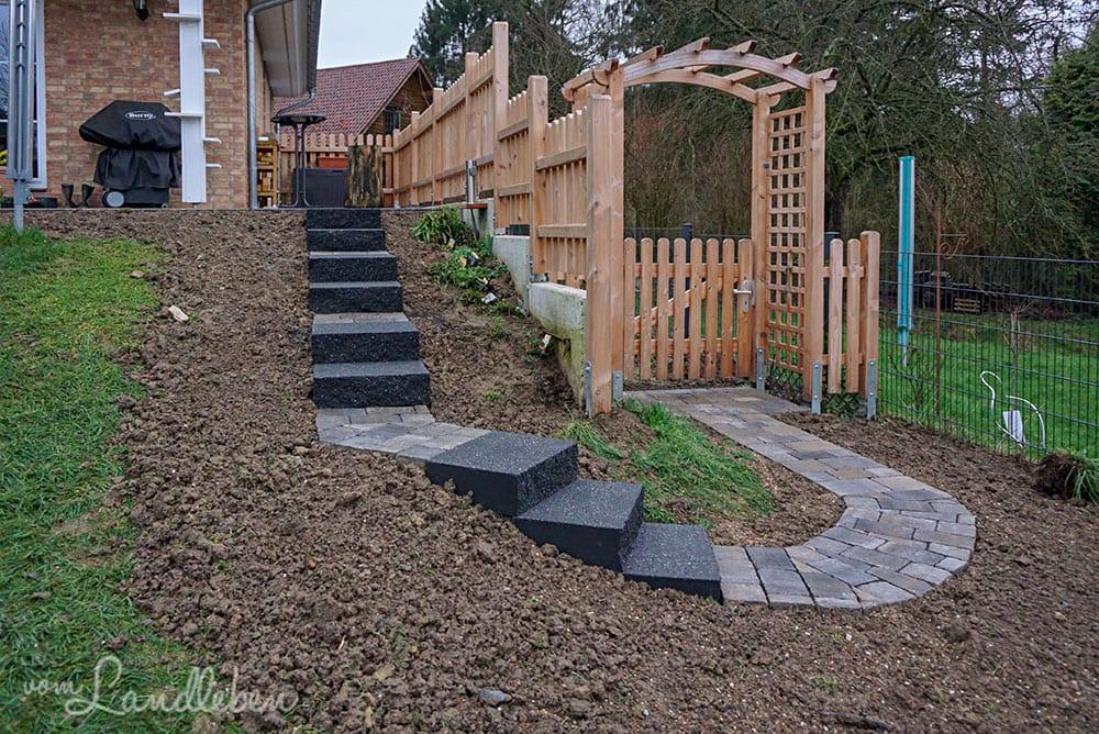 Die Treppe in den Garten