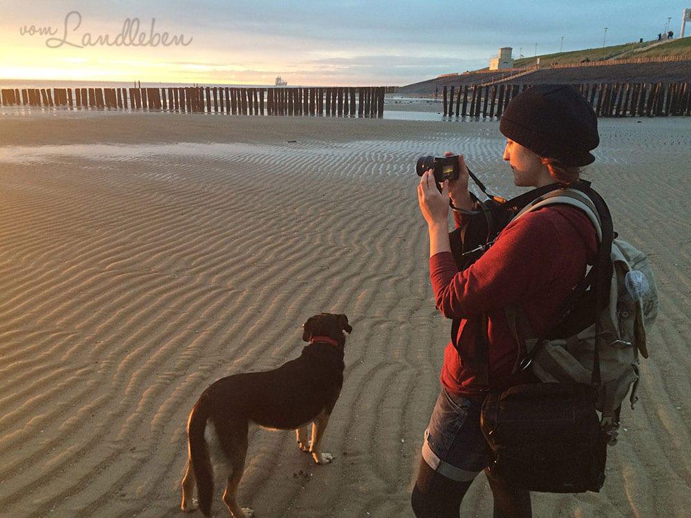 Ich am Strand - Oktober 2015
