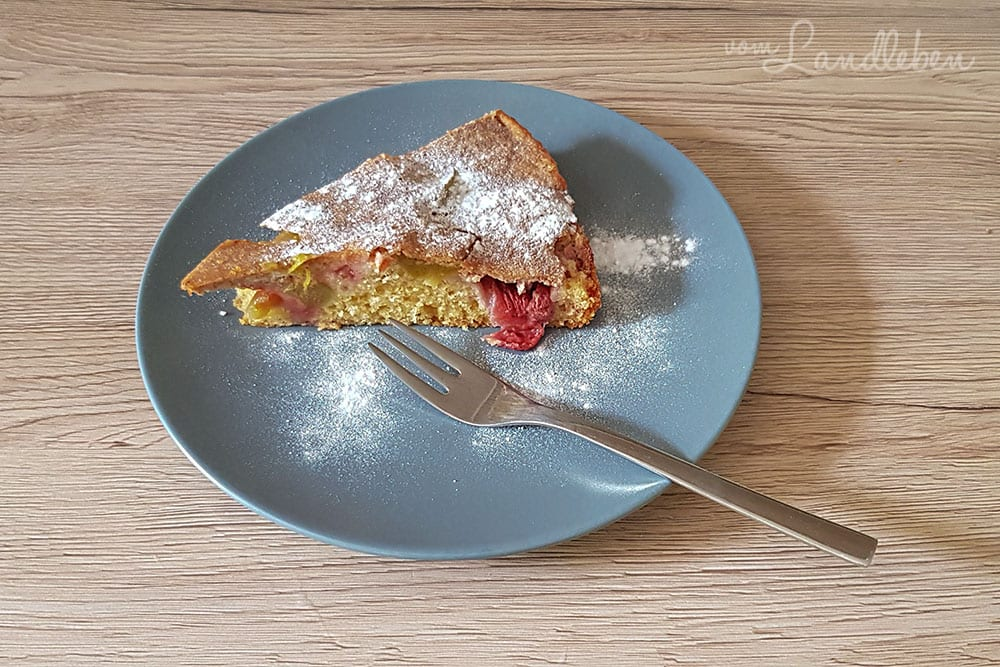 Rezept für Rhabarber-Erdbeer-Kuchen