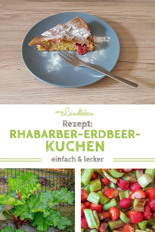 Rezept: Rhabarber-Erdbeer-Kuchen