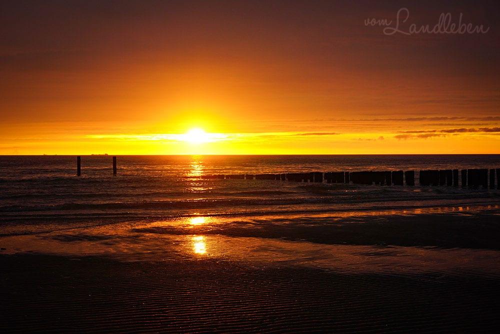 Strandfotos aus Zoutelande - Sonnenuntergang