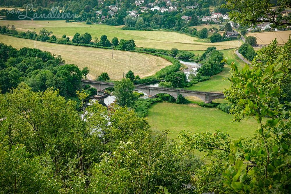 Blick von Burg Blankenberg auf das Siegtal