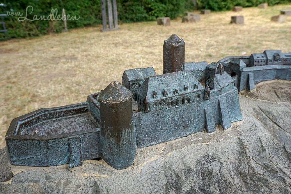 Modell von Burg Blankenberg