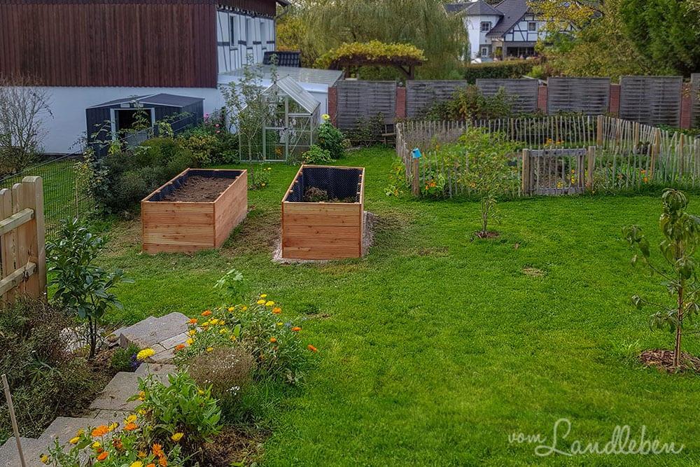 Hinten im Garten - Oktober 2019