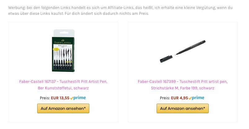 Amazon Associates Link Builder - Beispiel