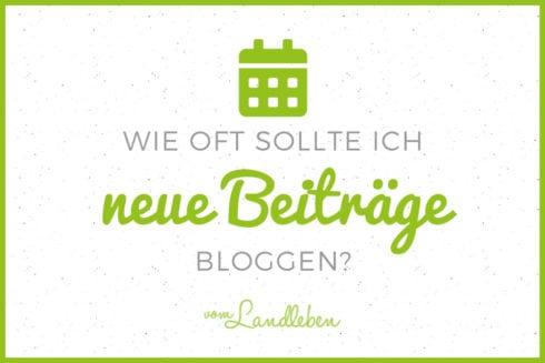 Wie oft neue Beiträge bloggen?