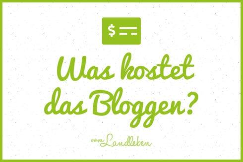 Was kostet das Bloggen?