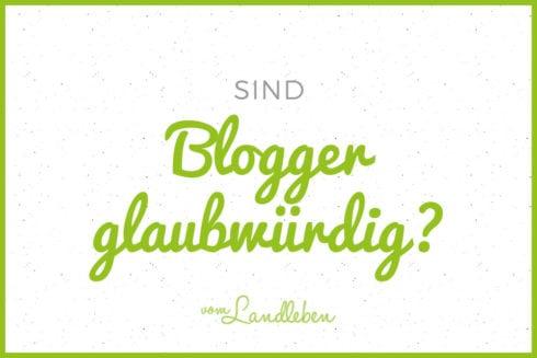 Sind Blogger glaubwürdig?