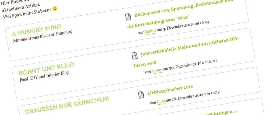 Blogroll auf vom-landleben.de - gebaut mit Feedzy Lite