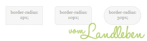 CSS-Tutorial: abgerundete Ecken mit border-radius