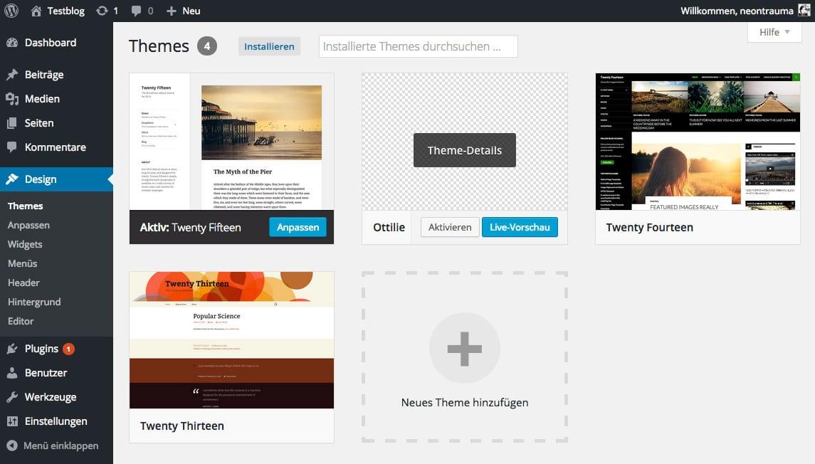 Child-Theme in WordPress nutzen