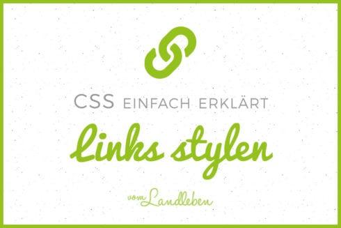 CSS-Tutorial: Links stylen