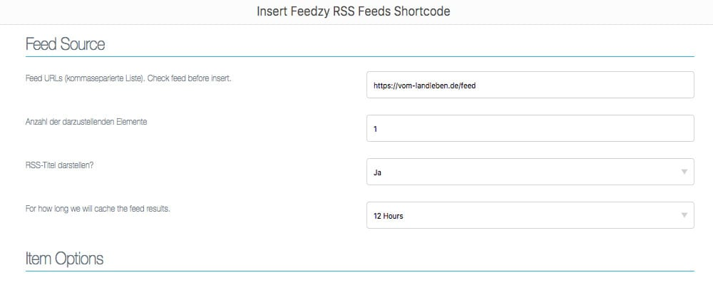 Tutorial: Blogroll in WordPress mit Feedzy RSS Feeds Lite