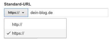 Umstellung von HTTP auf HTTPS in Google Analytics