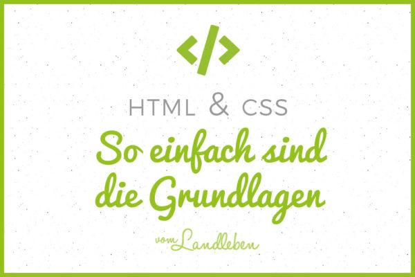 Die Grundlagen von HTML und CSS einfach erklärt