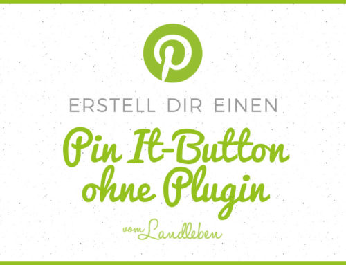 Ein Pin It-Button ohne Plugin