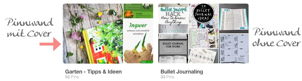 Pinterest - Pinnwand mit Cover