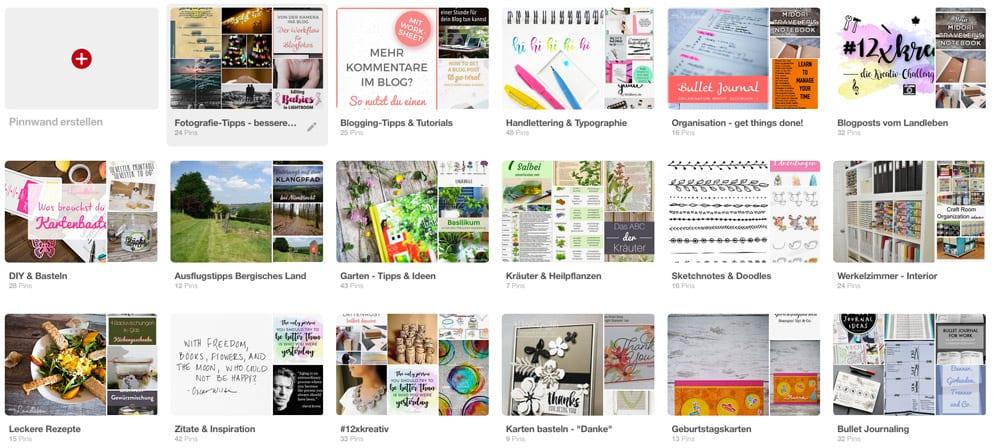 Pinnwände auf Pinterest