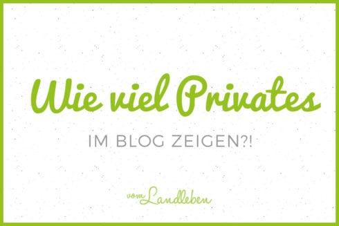 Wie viel Privates im Blog zeigen?
