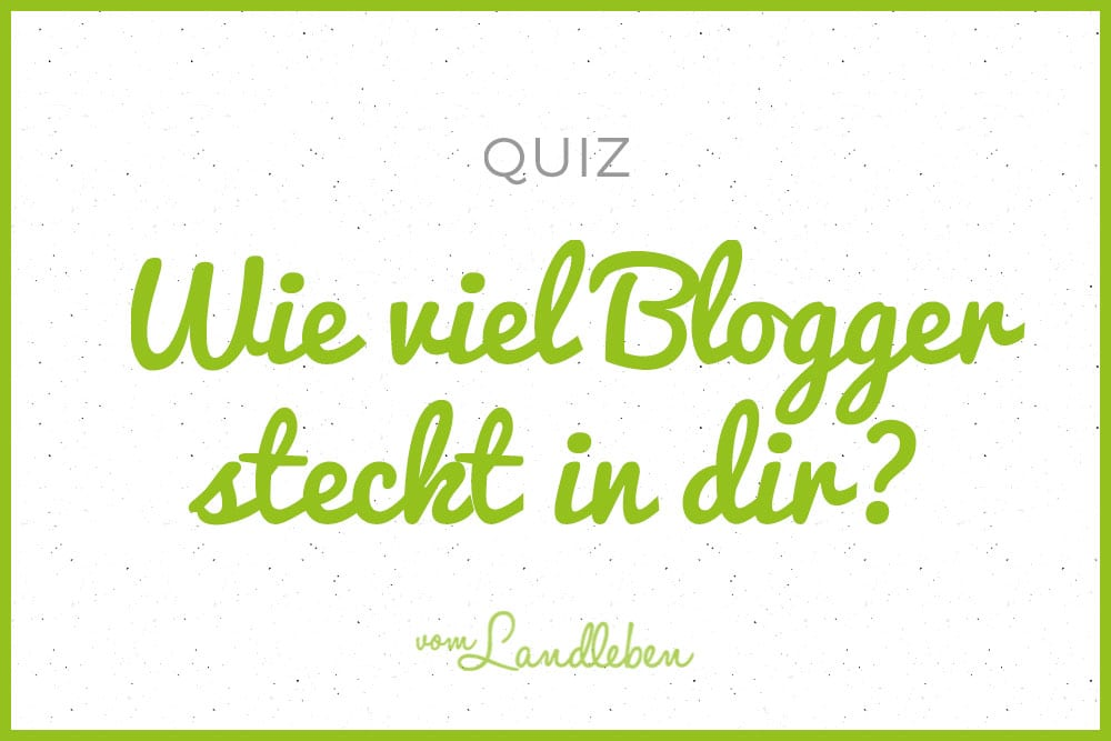 Quiz: wie viel Blogger steckt in dir?