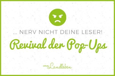 Das Revival der Pop-Ups