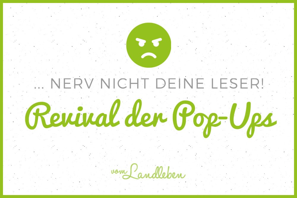 Das Revival der Pop-Ups