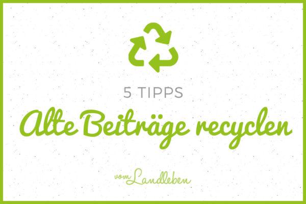 5 Tipps: alte Beiträge recyclen