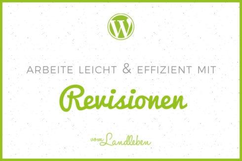 Revisionen in WordPress