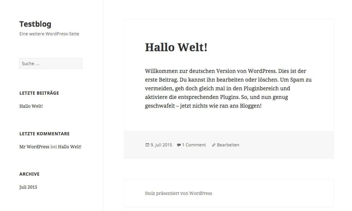 Child-Theme in WordPress anpassen