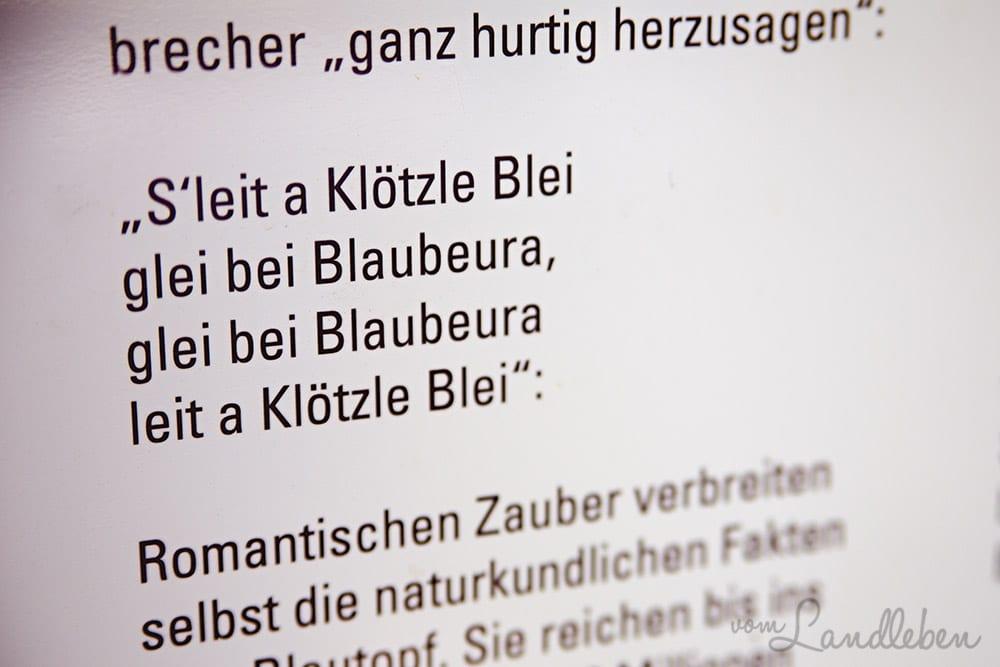 Blaubeuren - 's leit a Klötzle Blei...