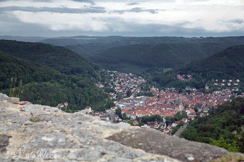 Burg Hohenurach - Blick auf Bad Urach