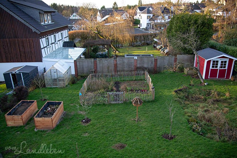 Garten im Januar 2020