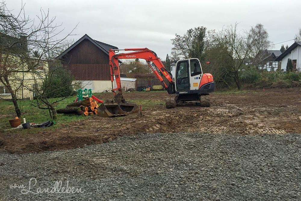 Unser Grundstück im Januar 2016