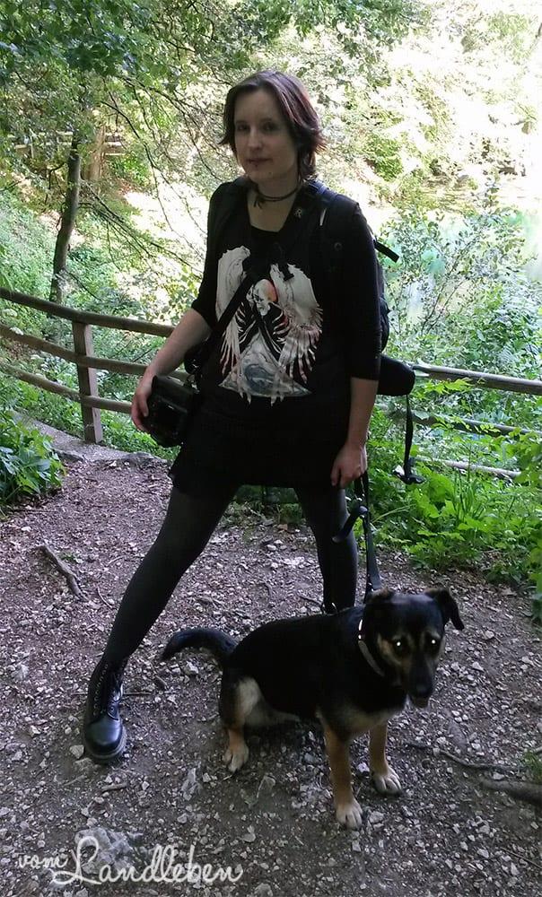 Nala und ich in Blaubeuren