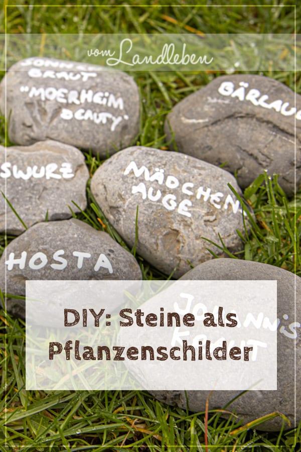 DIY: Steine beschriften als Pflanzenschilder