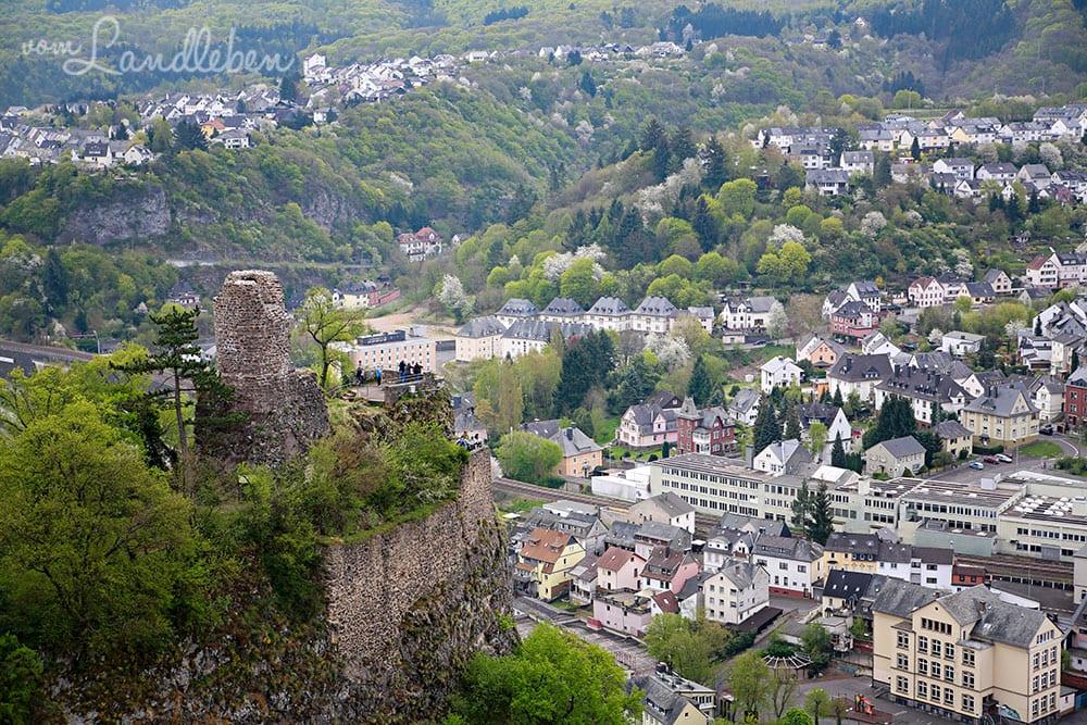 Blick auf Burg Bosselstein