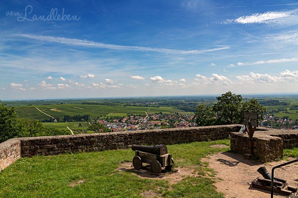 Blick von Burg Landeck