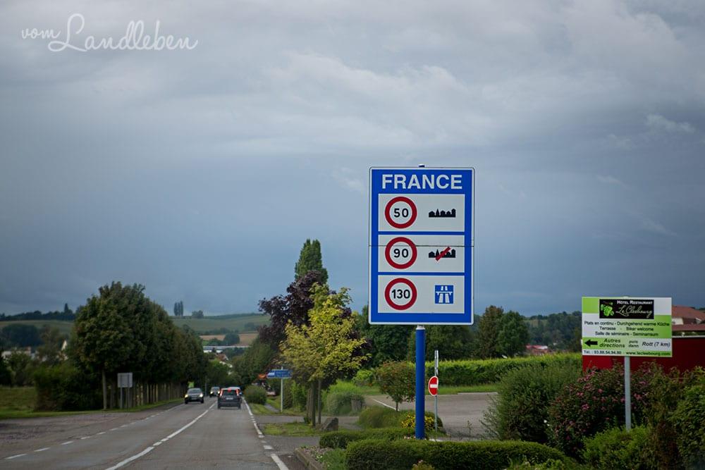Grenze nach Frankreich
